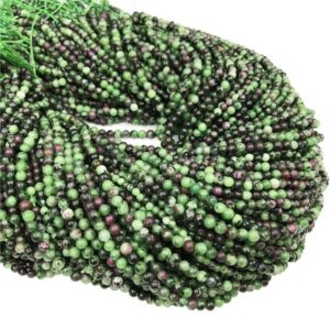 Shop Ruby Zoisite Round Beads! 4mm Ruby Zoisite Round Beads,Gemstone Beads ,Approx 15.5 Inch Strand | Natural genuine round Ruby Zoisite beads for beading and jewelry making.  #jewelry #beads #beadedjewelry #diyjewelry #jewelrymaking #beadstore #beading #affiliate #ad