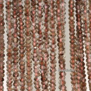 Shop Smoky Quartz Faceted Beads! 4x3mm Light Smoky Quartz Gemstone Faceted Rondelle 4x3mm Loose Beads 15.5 Inch Full Strand (90192043-341) | Natural genuine faceted Smoky Quartz beads for beading and jewelry making.  #jewelry #beads #beadedjewelry #diyjewelry #jewelrymaking #beadstore #beading #affiliate #ad