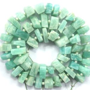 Shop Amazonite Chip & Nugget Beads! 50 Piece Natural Amazonite Gemstone, natural Rough Gemstone, amazonite Center Drilled Raw, size 6-8 Mm Making Jewelry Amazonite Rough Wholesale | Natural genuine chip Amazonite beads for beading and jewelry making.  #jewelry #beads #beadedjewelry #diyjewelry #jewelrymaking #beadstore #beading #affiliate #ad