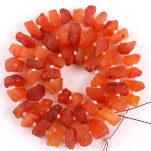 50 Piece Natural Carnelian Rough Gemstone, Genuine Quality 1 Strand Center Drilled Raw, Size 6-8 MM Making Orange Jewelry Wholesale Price | Natural genuine chip Carnelian beads for beading and jewelry making.  #jewelry #beads #beadedjewelry #diyjewelry #jewelrymaking #beadstore #beading #affiliate #ad