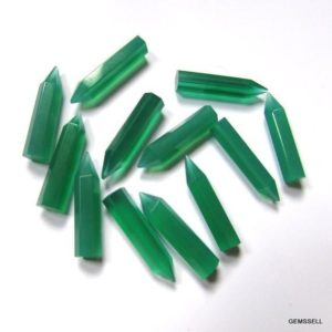 Shop Onyx Points & Wands! 5x20mm Green Onyx Pencil faceted AAA Quality gemstone, Green Onyx Faceted Pencil Loose Gemstone, Green Onyx Pencil Loose Gemstone | Natural genuine stones & crystals in various shapes & sizes. Buy raw cut, tumbled, or polished gemstones for making jewelry or crystal healing energy vibration raising reiki stones. #crystals #gemstones #crystalhealing #crystalsandgemstones #energyhealing #affiliate #ad