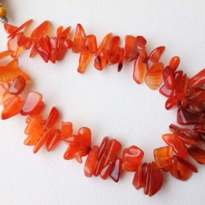 Shop Carnelian Chip & Nugget Beads! 8-12mm Carnelian Rough Beads, Natural Loose Raw Carnelian Gemstone, 8 Inch Carnelian Raw Beads, Carnelian Rough Nuggets For Jewelry – PDG167 | Natural genuine chip Carnelian beads for beading and jewelry making.  #jewelry #beads #beadedjewelry #diyjewelry #jewelrymaking #beadstore #beading #affiliate #ad