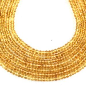 Shop Citrine Rondelle Beads! Aaa Quality 14″ Long Citrine Rondelle Beads, micro Faceted Bead, 3.5-4.5 Mm Beads, citrine Gemstone, Faceted Rondelle Beads, wholesale Price.   Natural genuine rondelle Citrine beads for beading and jewelry making.  #jewelry #beads #beadedjewelry #diyjewelry #jewelrymaking #beadstore #beading #affiliate #ad