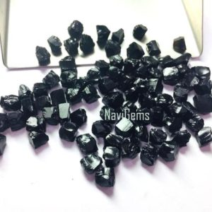 Shop Onyx Stones & Crystals! AAA Quality 50 Piece Natural Black Onyx Rough, Rough Gemstone,Making Jewelry,6-8 mm ,Undrilled Loose Gemstone,Gift For Her,Wholesale Price | Natural genuine stones & crystals in various shapes & sizes. Buy raw cut, tumbled, or polished gemstones for making jewelry or crystal healing energy vibration raising reiki stones. #crystals #gemstones #crystalhealing #crystalsandgemstones #energyhealing #affiliate #ad