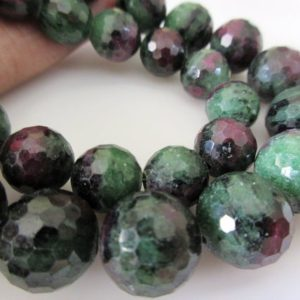 Shop Ruby Zoisite Round Beads! AAA Ruby Zoisite Faceted Round Beads, Ruby Zoisite Sphere Beads, 10mm 12mm Ruby Zoisite Beads, Natural Loose Ruby Zoisite13 Bead, GDS1096 | Natural genuine round Ruby Zoisite beads for beading and jewelry making.  #jewelry #beads #beadedjewelry #diyjewelry #jewelrymaking #beadstore #beading #affiliate #ad