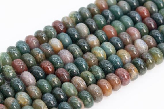 Genuine Natural Multicolor Indian Agate Loose Beads Rondelle Shape 10x6mm