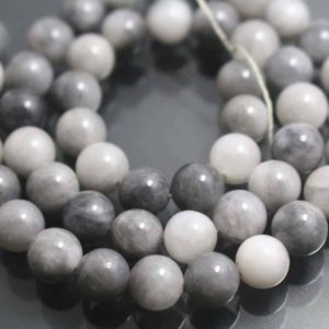 Shop Agate Round Beads! 6mm/8mm/10mm Eagle Eyes Agate Beads,Smooth and Round Silver Grey Agate Beads,15 inches one starand | Natural genuine round Agate beads for beading and jewelry making.  #jewelry #beads #beadedjewelry #diyjewelry #jewelrymaking #beadstore #beading #affiliate #ad