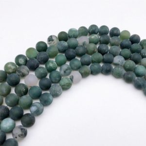 Shop Moss Agate Beads! 8mm Matte Moss Agate Beads, Round Gemstone Beads,  Wholesale Beads | Natural genuine beads Agate beads for beading and jewelry making.  #jewelry #beads #beadedjewelry #diyjewelry #jewelrymaking #beadstore #beading #affiliate #ad