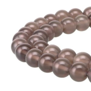 "Shop Agate Round Beads! Gray Agate Smooth Round Beads 4mm 6mm 8mm 10mm 12mm 15.5"" Strand 