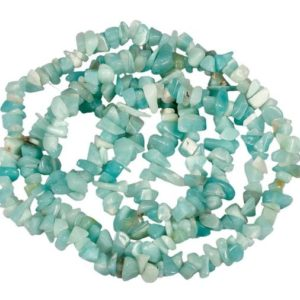 Shop Amazonite Chip & Nugget Beads! U Pick Top Quality Natural Blue Amazonite Gemstone Free Form 5-8mm Gems Stone Chip Beads 33 Inch Per Strand For Jewelry Craft Making Gz1-2 | Natural genuine chip Amazonite beads for beading and jewelry making.  #jewelry #beads #beadedjewelry #diyjewelry #jewelrymaking #beadstore #beading #affiliate #ad