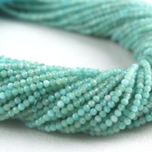 Shop Amazonite Faceted Beads! Best Quality 1 Strand Natural Amazonite Rondelle Faceted Beads, 2 MM, Amazonite Beads,Making Jewelry, Amazonite  Gemstone,Wholesale Price | Natural genuine faceted Amazonite beads for beading and jewelry making.  #jewelry #beads #beadedjewelry #diyjewelry #jewelrymaking #beadstore #beading #affiliate #ad