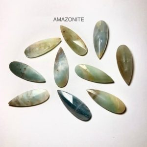 Shop Amazonite Bead Shapes! 4pcs Amazonite Faceted Pendant 12x33mm,Gemstone Teardrop, Amazonite Pendant, | Natural genuine other-shape Amazonite beads for beading and jewelry making.  #jewelry #beads #beadedjewelry #diyjewelry #jewelrymaking #beadstore #beading #affiliate #ad
