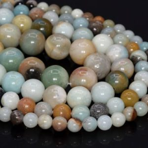Shop Amazonite Round Beads! Genuine Natural Amazonite Loose Beads Grade A Round Shape 6mm 8-9mm 10mm 12mm | Natural genuine round Amazonite beads for beading and jewelry making.  #jewelry #beads #beadedjewelry #diyjewelry #jewelrymaking #beadstore #beading #affiliate #ad