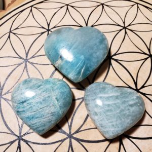Shop Amazonite Shapes! Amazonite Crystal Hearts Reiki Healing Energy Infused Handcarved Crystal Hearts | Natural genuine stones & crystals in various shapes & sizes. Buy raw cut, tumbled, or polished gemstones for making jewelry or crystal healing energy vibration raising reiki stones. #crystals #gemstones #crystalhealing #crystalsandgemstones #energyhealing #affiliate #ad