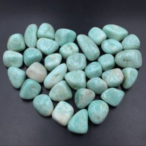 Shop Tumbled Amazonite Crystals & Pocket Stones! Amazonite Tumbled Stone Green Amazonite Stone Tumblestone Healing Gemtone Mineral Specimen Reiki Meditation Chakra Altar CD-TS | Natural genuine stones & crystals in various shapes & sizes. Buy raw cut, tumbled, or polished gemstones for making jewelry or crystal healing energy vibration raising reiki stones. #crystals #gemstones #crystalhealing #crystalsandgemstones #energyhealing #affiliate #ad