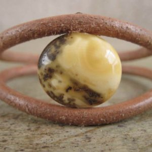 Shop Amber Jewelry! Leather Bracelet Full Moon Men Geometric Jewelry Unisex Luna Round Eco Fashion Baltic Amber Astronomy Yellow Brown | Natural genuine Amber jewelry. Buy crystal jewelry, handmade handcrafted artisan jewelry for women.  Unique handmade gift ideas. #jewelry #beadedjewelry #beadedjewelry #gift #shopping #handmadejewelry #fashion #style #product #jewelry #affiliate #ad