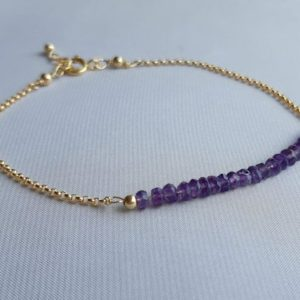 Shop Amethyst Bracelets! Gold chain jade bracelet, green gemstone jewelry, gift for her, green jade jewelry | Natural genuine Amethyst bracelets. Buy crystal jewelry, handmade handcrafted artisan jewelry for women.  Unique handmade gift ideas. #jewelry #beadedbracelets #beadedjewelry #gift #shopping #handmadejewelry #fashion #style #product #bracelets #affiliate #ad