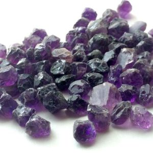 7-11mm Amethyst Rough, Purple Amethyst, Rough Amethyst Gemstones, Raw Amethyst, Loose Amethyst, Natural Rough Gems (10Pcs To 50 Pcs Options) | Natural genuine chip Amethyst beads for beading and jewelry making.  #jewelry #beads #beadedjewelry #diyjewelry #jewelrymaking #beadstore #beading #affiliate #ad