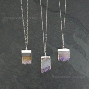 Amethyst Necklace / Amethyst Jewelry / Silver Amethyst Necklace / February Birthstone / Mothers Day Gift | Natural genuine Amethyst necklaces. Buy crystal jewelry, handmade handcrafted artisan jewelry for women.  Unique handmade gift ideas. #jewelry #beadednecklaces #beadedjewelry #gift #shopping #handmadejewelry #fashion #style #product #necklaces #affiliate #ad