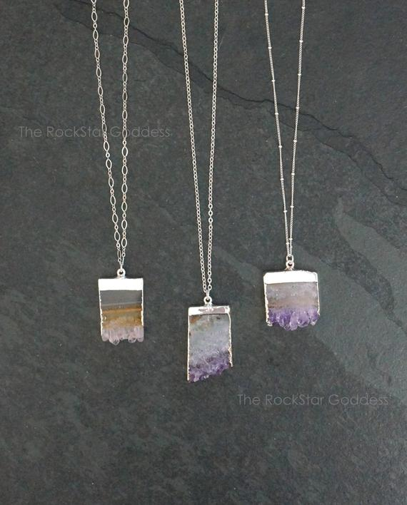 Amethyst Necklace / Amethyst Jewelry / Silver Amethyst Necklace / February Birthstone / Mothers Day Gift