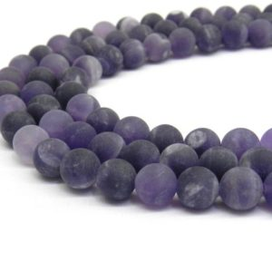 Amethyst Beads, Matte Beads, Frosted Beads, 8mm Beads, 6mm Beads, Purple Beads, Gemstone Beads, Lavender Beads, Purple Gemstone, Violet | Natural genuine beads Amethyst beads for beading and jewelry making.  #jewelry #beads #beadedjewelry #diyjewelry #jewelrymaking #beadstore #beading #affiliate #ad