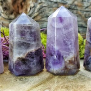Shop Amethyst Points & Wands! Amethyst Crystal Tower Point –  072 | Natural genuine stones & crystals in various shapes & sizes. Buy raw cut, tumbled, or polished gemstones for making jewelry or crystal healing energy vibration raising reiki stones. #crystals #gemstones #crystalhealing #crystalsandgemstones #energyhealing #affiliate #ad