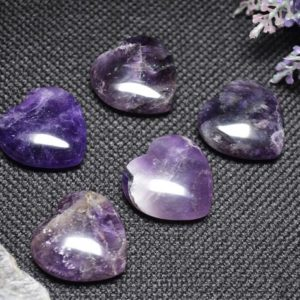 Best Hand Carved Amethyst Quartz Polished Heart Shaped/Natural Amethyst Stone/Worry stone/Decoration/Special gift-30mm | Natural genuine stones & crystals in various shapes & sizes. Buy raw cut, tumbled, or polished gemstones for making jewelry or crystal healing energy vibration raising reiki stones. #crystals #gemstones #crystalhealing #crystalsandgemstones #energyhealing #affiliate #ad