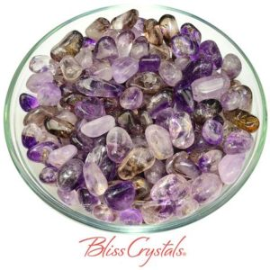 Shop Tumbled Amethyst Crystals & Pocket Stones! 2 Brandberg Amethyst Small Tumbled Stone Healing Crystal And Stone For Protection #ba38 | Natural genuine stones & crystals in various shapes & sizes. Buy raw cut, tumbled, or polished gemstones for making jewelry or crystal healing energy vibration raising reiki stones. #crystals #gemstones #crystalhealing #crystalsandgemstones #energyhealing #affiliate #ad