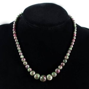 Shop Ruby Zoisite Necklaces! Anyolite Necklace, Ruby Zoisite Necklaces, Anyolite Necklaces, Ruby Zoisite Crystals, Healing Strand Ruby Zoisite Necklace, Anyolite Crystal | Natural genuine Ruby Zoisite necklaces. Buy crystal jewelry, handmade handcrafted artisan jewelry for women.  Unique handmade gift ideas. #jewelry #beadednecklaces #beadedjewelry #gift #shopping #handmadejewelry #fashion #style #product #necklaces #affiliate #ad