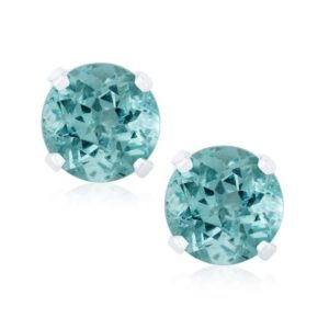 Shop Apatite Earrings! Sterling Silver 1.47ct Blue Apatite Stud Earring | Natural genuine Apatite earrings. Buy crystal jewelry, handmade handcrafted artisan jewelry for women.  Unique handmade gift ideas. #jewelry #beadedearrings #beadedjewelry #gift #shopping #handmadejewelry #fashion #style #product #earrings #affiliate #ad
