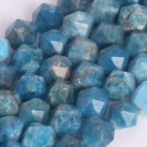 Shop Apatite Beads! Genuine Natural Blue Apatite Loose Beads Grade AA Star Cut Faceted Shape 5mm 8mm 9mm 11mm | Natural genuine beads Apatite beads for beading and jewelry making.  #jewelry #beads #beadedjewelry #diyjewelry #jewelrymaking #beadstore #beading #affiliate #ad