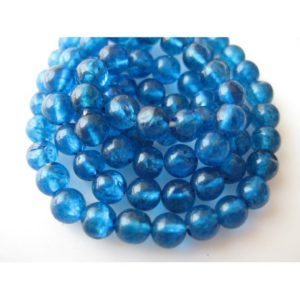 Shop Apatite Beads! Apatite, Blue Apatite Gem Stones, Neon Blue Apatite, Rondelle Beads, 4mm Beads, 13 Inch Strand | Natural genuine beads Apatite beads for beading and jewelry making.  #jewelry #beads #beadedjewelry #diyjewelry #jewelrymaking #beadstore #beading #affiliate #ad