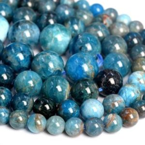 Shop Apatite Beads! Genuine Natural Apatite Loose Beads Grade A Round Shape 6mm 8mm 9-10mm 12mm | Natural genuine beads Apatite beads for beading and jewelry making.  #jewelry #beads #beadedjewelry #diyjewelry #jewelrymaking #beadstore #beading #affiliate #ad