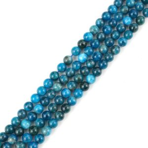 Shop Apatite Round Beads! U Pick Top Quality Natural Blue Apatite Gemstone 4mm 6mm 8mm 10mm Round Loose Beads 15 inch Per Strand for Jewelry Craft Making GF32 | Natural genuine round Apatite beads for beading and jewelry making.  #jewelry #beads #beadedjewelry #diyjewelry #jewelrymaking #beadstore #beading #affiliate #ad