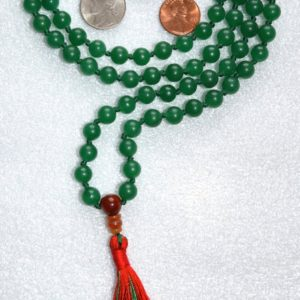 Shop Aventurine Jewelry! Green Aventurine Hand Knotted Earthly Mala Beads Necklace – Blessed Karma Nirvana Meditation 8mm 108 Prayer Beads For Awakening Kundalini | Natural genuine Aventurine jewelry. Buy crystal jewelry, handmade handcrafted artisan jewelry for women.  Unique handmade gift ideas. #jewelry #beadedjewelry #beadedjewelry #gift #shopping #handmadejewelry #fashion #style #product #jewelry #affiliate #ad