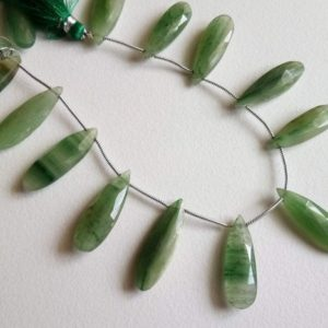 Shop Aventurine Bead Shapes! 8 Inch Green Aventurine Faceted Pear Beads, 28-31mm Natural Shaded Green Aventurine Faceted Long Pear, 13 Pcs Aventurine Necklace – ADG253 | Natural genuine other-shape Aventurine beads for beading and jewelry making.  #jewelry #beads #beadedjewelry #diyjewelry #jewelrymaking #beadstore #beading #affiliate #ad