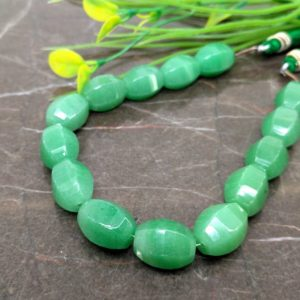 Shop Aventurine Bead Shapes! Natural Green Aventurine 14-14.5mm Faceted Barrel Gemstone Beads / Approx 15 pieces on 8 Inch long strand / JBC-ET-BGAV008 | Natural genuine other-shape Aventurine beads for beading and jewelry making.  #jewelry #beads #beadedjewelry #diyjewelry #jewelrymaking #beadstore #beading #affiliate #ad