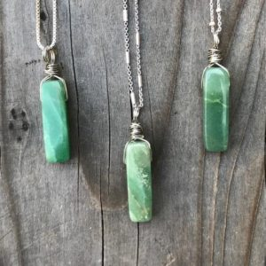 Aventurine; Aventurine Pendant; Aventurine Necklace; Dainty Aventurine Crystal; Aventurine Jewelry; Green Aventurine; Sterling Silver | Natural genuine Array jewelry. Buy crystal jewelry, handmade handcrafted artisan jewelry for women.  Unique handmade gift ideas. #jewelry #beadedjewelry #beadedjewelry #gift #shopping #handmadejewelry #fashion #style #product #jewelry #affiliate #ad