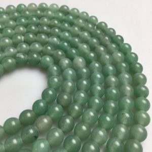 "Shop Aventurine Beads! 2.0mm Hole Green Aventurine Smooth Round Beads 6mm 8mm 10mm 15.5"" Strand 
