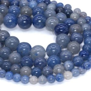 Shop Aventurine Beads! Blue Aventurine Loose Beads Round Shape 6mm 8mm 10mm 16mm | Natural genuine beads Aventurine beads for beading and jewelry making.  #jewelry #beads #beadedjewelry #diyjewelry #jewelrymaking #beadstore #beading #affiliate #ad