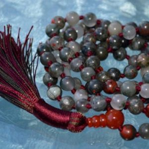 Shop Bloodstone Necklaces! Red African Bloodstone Mala Beads Necklace – Enhances Blood Flow, Decision Making, Eliminates Blood Disorders, Anemia Confusion Impatience | Natural genuine Bloodstone necklaces. Buy crystal jewelry, handmade handcrafted artisan jewelry for women.  Unique handmade gift ideas. #jewelry #beadednecklaces #beadedjewelry #gift #shopping #handmadejewelry #fashion #style #product #necklaces #affiliate #ad