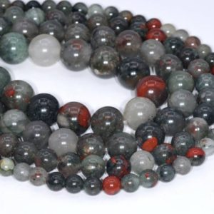 Shop Bloodstone Beads! Genuine Natural Blood Stone Loose Beads Round Shape 6mm 8mm 10mm 12mm 15mm | Natural genuine round Bloodstone beads for beading and jewelry making.  #jewelry #beads #beadedjewelry #diyjewelry #jewelrymaking #beadstore #beading #affiliate #ad
