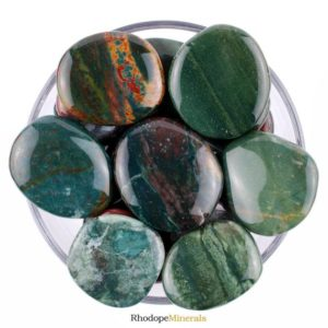 Shop Bloodstone Shapes! One 1 Heliotrope Smooth Stone, Heliotrope Palm Stone, Heliotrope Smooth Stones, Heliotrope Palm Stones, Healing Heliotrope Stones | Natural genuine stones & crystals in various shapes & sizes. Buy raw cut, tumbled, or polished gemstones for making jewelry or crystal healing energy vibration raising reiki stones. #crystals #gemstones #crystalhealing #crystalsandgemstones #energyhealing #affiliate #ad