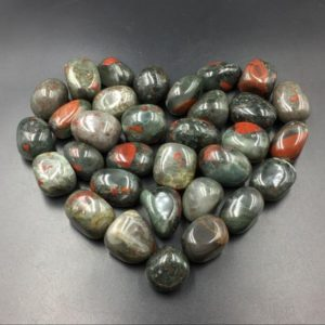 Shop Tumbled Bloodstone Crystals & Pocket Stones! Bloodstone Tumbled Stone Polished Heliotrope Stone Tumble Gemstone Healing Stone Mineral Specimen Root Chakra Spiritual Stone CD-TS | Natural genuine stones & crystals in various shapes & sizes. Buy raw cut, tumbled, or polished gemstones for making jewelry or crystal healing energy vibration raising reiki stones. #crystals #gemstones #crystalhealing #crystalsandgemstones #energyhealing #affiliate #ad