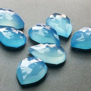 Shop Blue Chalcedony Stones & Crystals! 10x14mm Blue Chalcedony Faceted Pear Cabochons, Blue Rose Cut Flat Back Cabochons, Pear Blue Chalcedony For Jewelry (6pcs To 12pcs Options) | Natural genuine stones & crystals in various shapes & sizes. Buy raw cut, tumbled, or polished gemstones for making jewelry or crystal healing energy vibration raising reiki stones. #crystals #gemstones #crystalhealing #crystalsandgemstones #energyhealing #affiliate #ad