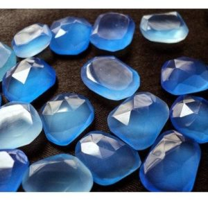 Shop Blue Chalcedony Stones & Crystals! 50 Pieces Wholesale Lot 14mm To 18mm Each Blue Chalcedony Rose Cut Flat Back Loose Cabochons GDS400/1 | Natural genuine stones & crystals in various shapes & sizes. Buy raw cut, tumbled, or polished gemstones for making jewelry or crystal healing energy vibration raising reiki stones. #crystals #gemstones #crystalhealing #crystalsandgemstones #energyhealing #affiliate #ad