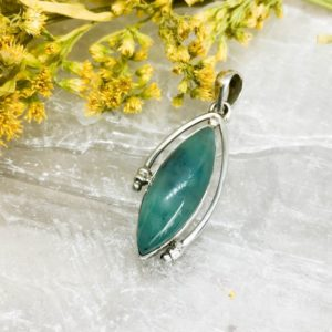 Shop Blue Chalcedony Pendants! Green Blue Chalcedony Sterling Silver Pendant – A Stone of Earth and Sea | Natural genuine Blue Chalcedony pendants. Buy crystal jewelry, handmade handcrafted artisan jewelry for women.  Unique handmade gift ideas. #jewelry #beadedpendants #beadedjewelry #gift #shopping #handmadejewelry #fashion #style #product #pendants #affiliate #ad