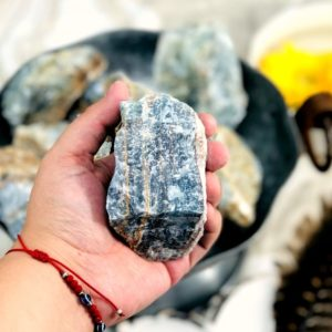 Blue Onyx Rough Chunk – 1 Large Piece (RK1100B14) | Natural genuine stones & crystals in various shapes & sizes. Buy raw cut, tumbled, or polished gemstones for making jewelry or crystal healing energy vibration raising reiki stones. #crystals #gemstones #crystalhealing #crystalsandgemstones #energyhealing #affiliate #ad