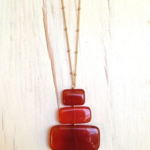 Carnelian Necklace Carnelian Slab Contemporary Gold Filled Necklace Gemstone Jewelry | Natural genuine Gemstone jewelry. Buy crystal jewelry, handmade handcrafted artisan jewelry for women.  Unique handmade gift ideas. #jewelry #beadedjewelry #beadedjewelry #gift #shopping #handmadejewelry #fashion #style #product #jewelry #affiliate #ad