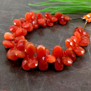 Shop Carnelian Bead Shapes! Natural Carnelian 10-14.5mm Checkerboard Pear Gemstone Beads / Approx 68 Pieces On 8 Inch Long Strand / Jbc-et-153872 | Natural genuine other-shape Carnelian beads for beading and jewelry making.  #jewelry #beads #beadedjewelry #diyjewelry #jewelrymaking #beadstore #beading #affiliate #ad